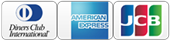 Cradit Cards VISA, Materscard, ANEX, JCB, Diners